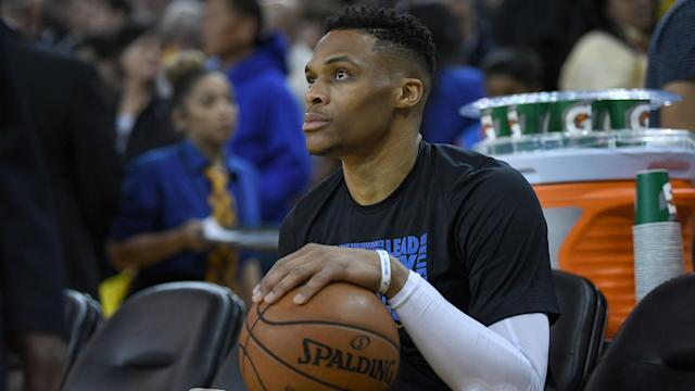 Russell Westbrook's coaches and teammates couldn't help but marvel at the Thunder guard's greatness after he hit 100 career triple-doubles Tuesday night.
