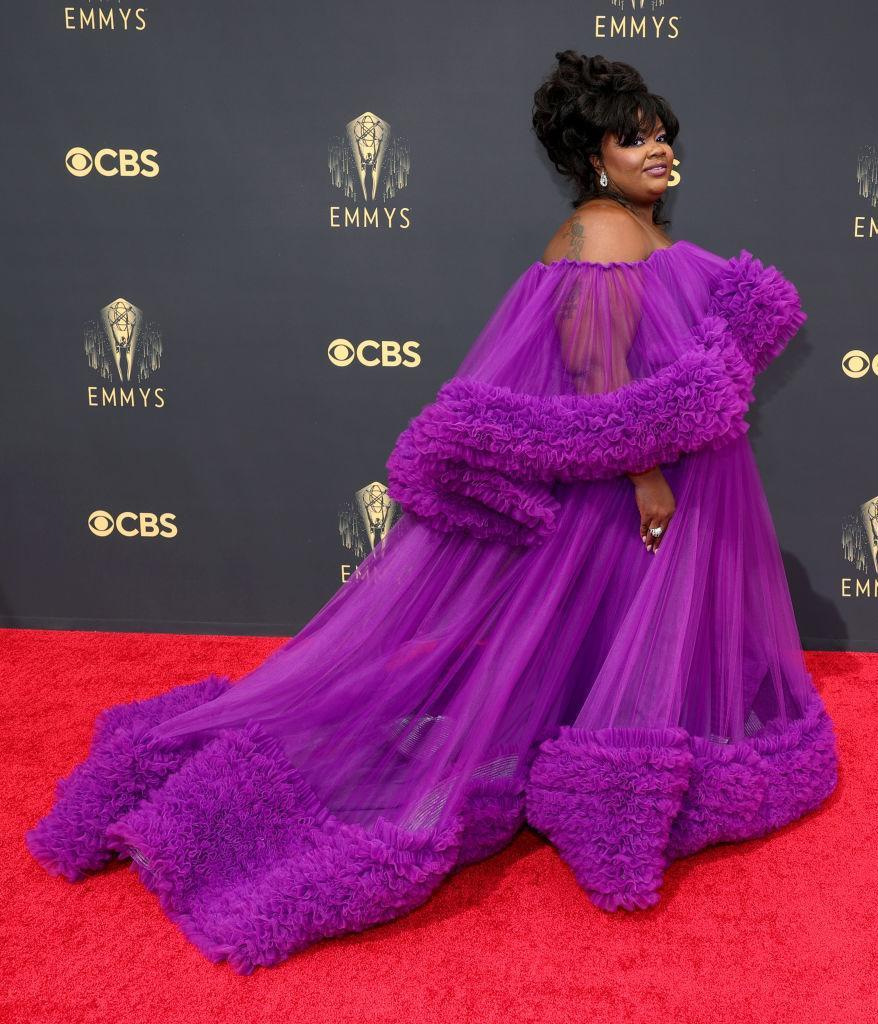 Nicole Byer attends the 73rd Primetime Emmy Awards on Sept. 19 at L.A. LIVE in Los Angeles. (Photo: Rich Fury/Getty Images)