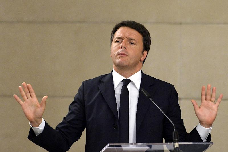 Italy's Prime Minister Matteo Renzi is the Five Star's main adversary in the run-up to the next general election, scheduled to be held in 2018 (AFP Photo/Tiziana Fabi)