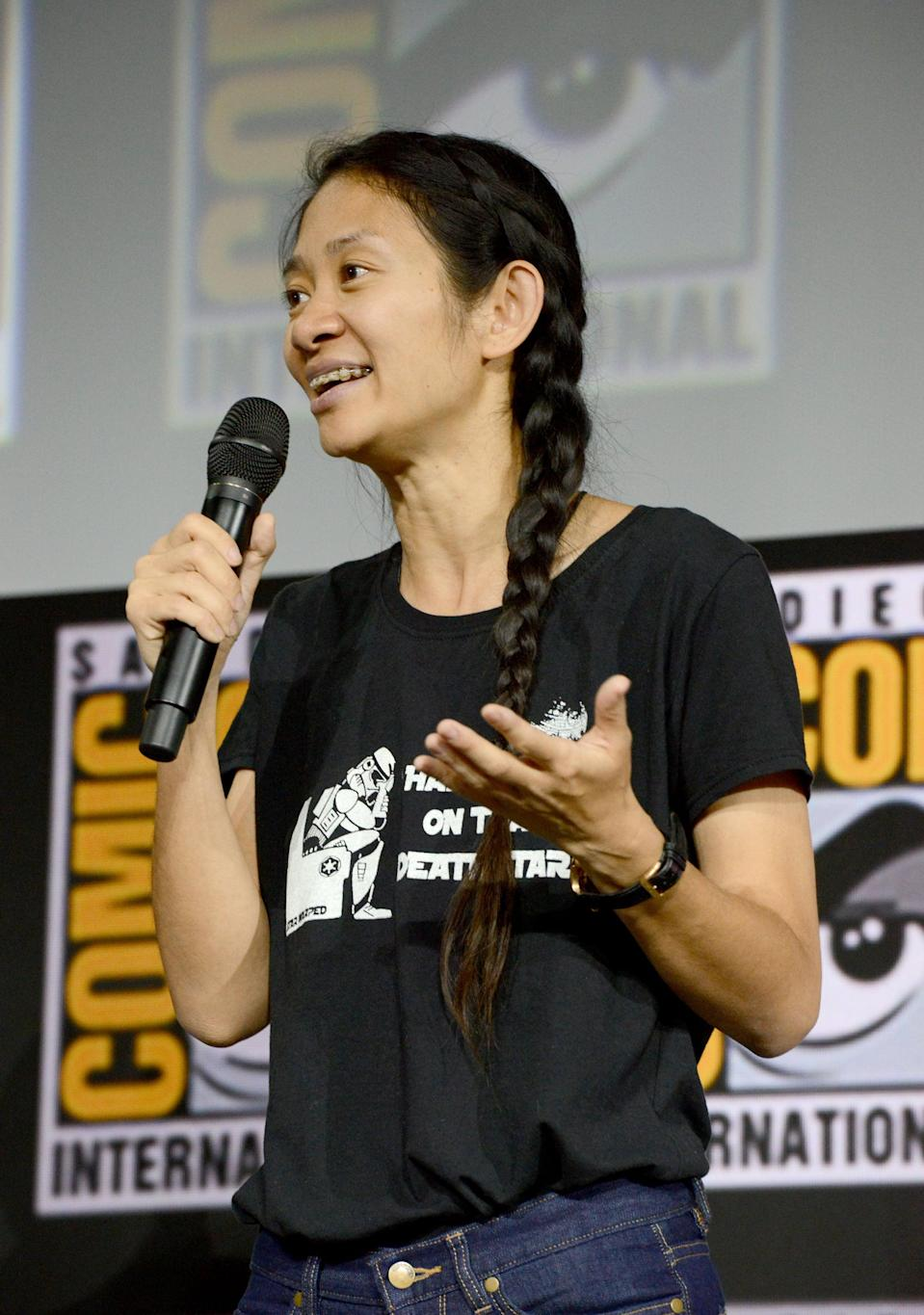 <p>Zhao is the director of the upcoming Marvel movie <strong>Eternals</strong>, focused on a group of immortal aliens who reunite to protect humanity from their evil foes. She'll be the third female director (and first woman of color) to helm a Marvel feature, following <strong>Captain Marvel</strong>'s Anna Boden and <strong>Black Widow</strong>'s Cate Shortland.</p>