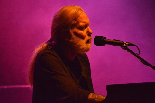 <p>Gregg Allman performs onstage at the 2016 Laid Back Fest at Nikon at Jones Beach Theater on July 23, 2016 in Wantagh, New York. (Joel Fried/Getty Images) </p>