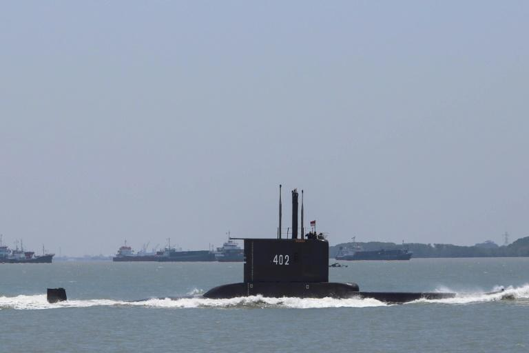 Indonesia's missing KRI Nanggala 402 submarine is shown in a file photo from 2017