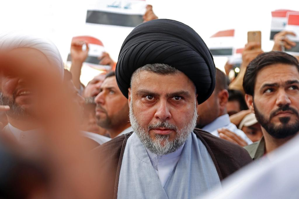 Moqtada al-Sadr, described by the Pentagon in 2006 as the biggest threat to stability in Iraq, pictured in the city of Najaf on April 15, 2018 (AFP Photo/Haidar HAMDANI)