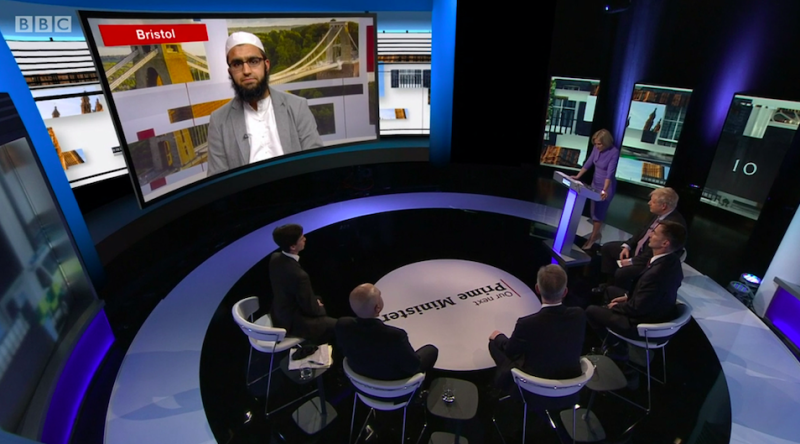Mr Patel asked the Tory leadership hopefuls about Islamophobia during the BBC debate (BBC)
