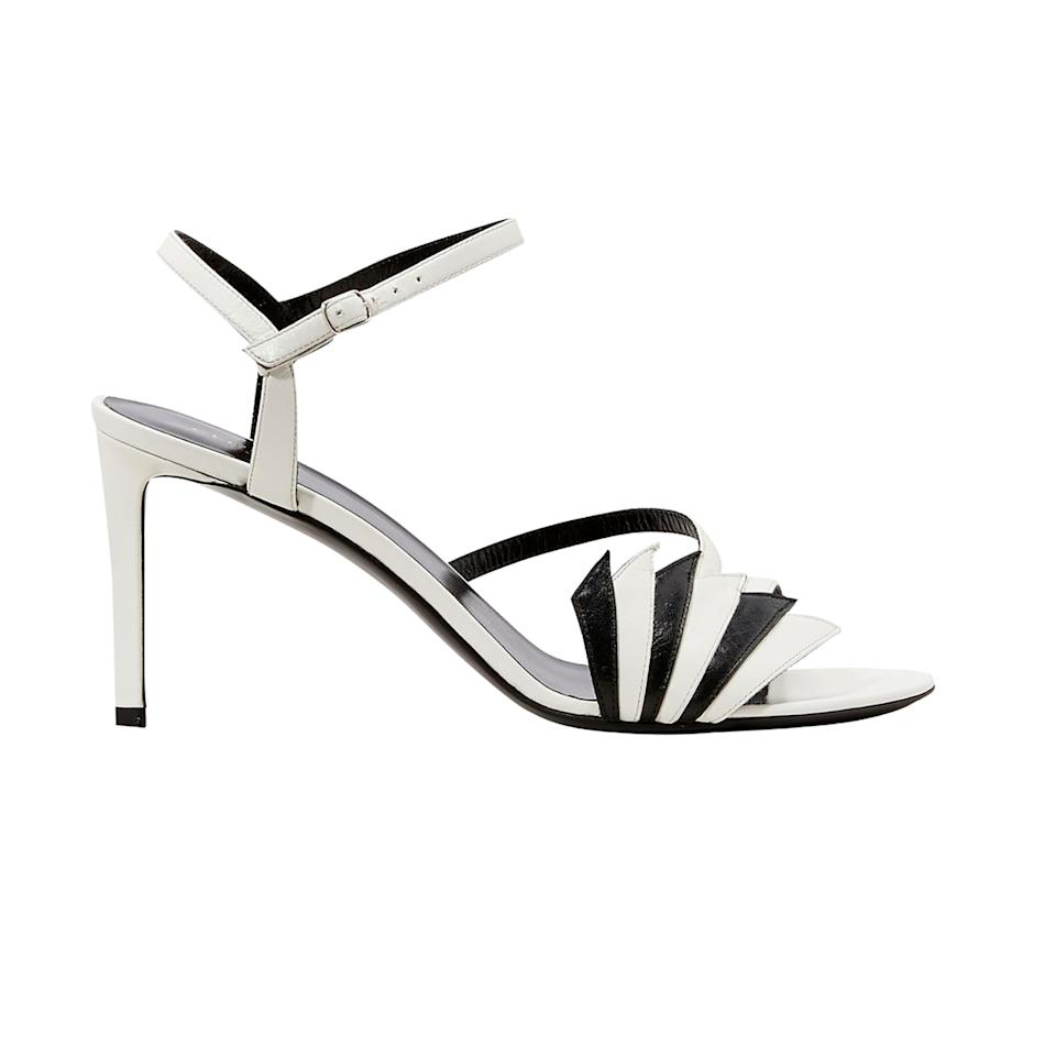 1c0bfb623  p These black and white strappy sandals can add a graphic punch to your
