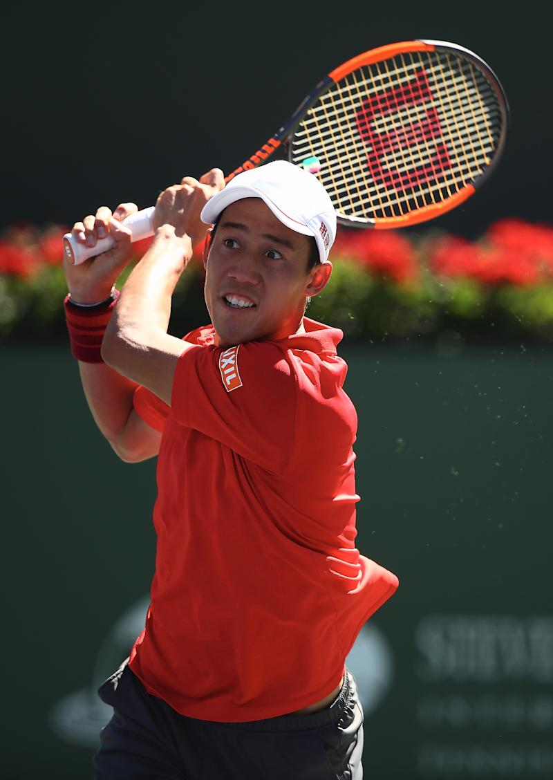 Tennis - Nishikori eases into Indian Wells third round