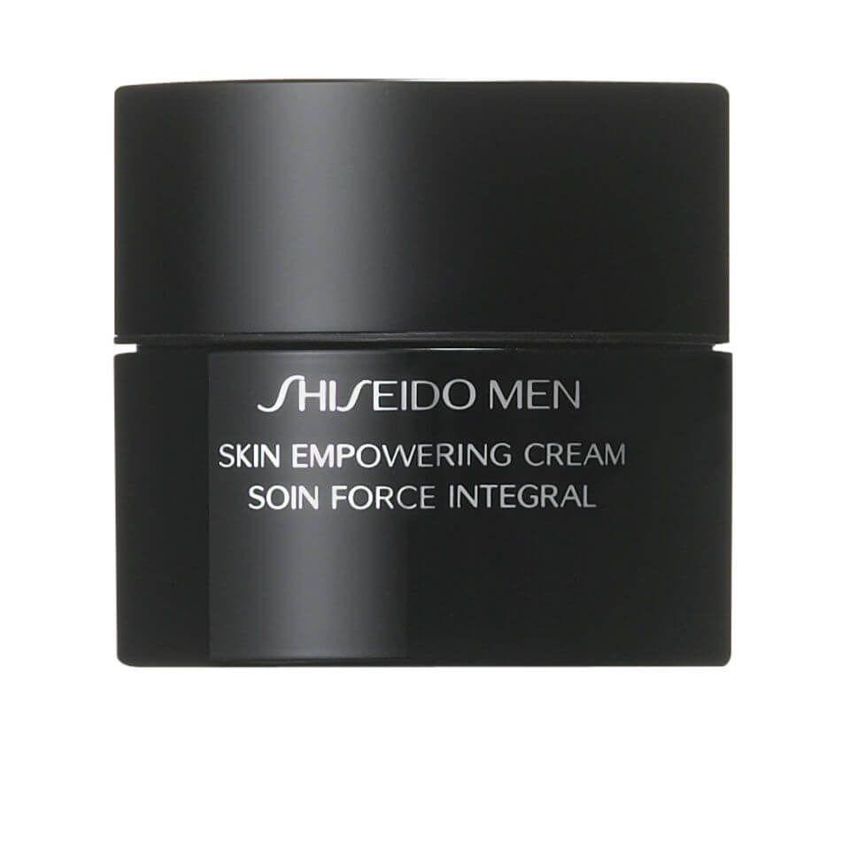 """<p><a class=""""link rapid-noclick-resp"""" href=""""https://www.cultbeauty.co.uk/shiseido-shiseido-men-skin-empowering-cream.html"""" rel=""""nofollow noopener"""" target=""""_blank"""" data-ylk=""""slk:SHOP"""">SHOP</a></p><p><strong>Best for: dry skin</strong></p><p>Shiseido's Skin Empowering cream is so good, we'll forgive the slightly Trumpian name. Working to overturn dullness, dry patches and the early signs of ageing, it's one of the hardest-working face creams out there.</p><p>Shiseido Skin Empowering Cream, £106, cultbeauty.co.uk</p>"""