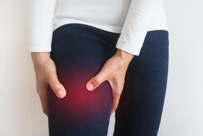 Thigh pain or muscle twitching or muscle cramp.