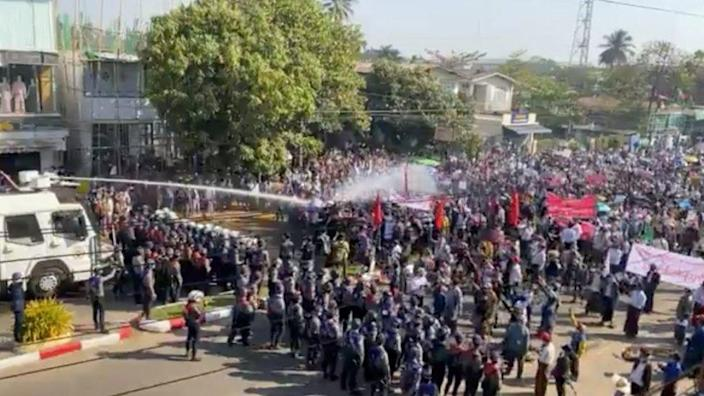 Protest in Bago-February 9