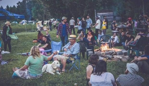 A file photo of the River & Sky Music and Camping Festival in Field, east of Sudbury. The 2021 event will be shortened to two days, with capacity at just 300. Plus all who attend must show proof of at least their first dose of a COVID-19 vaccine. (Supplied/River & Sky - image credit)