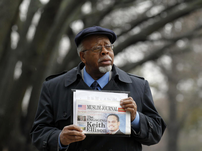 Earl Siddiq, from Newark, N.J., holds a newspaper as he arrives for a meeting with federal and state law enforcement officials at the Richard Hughes Justice Complex in Trenton, N.J. on Saturday, March 3, 2012 to discuss New Jersey's response to the NYPD's secret surveillance program. (AP Photo/Alex Brandon)