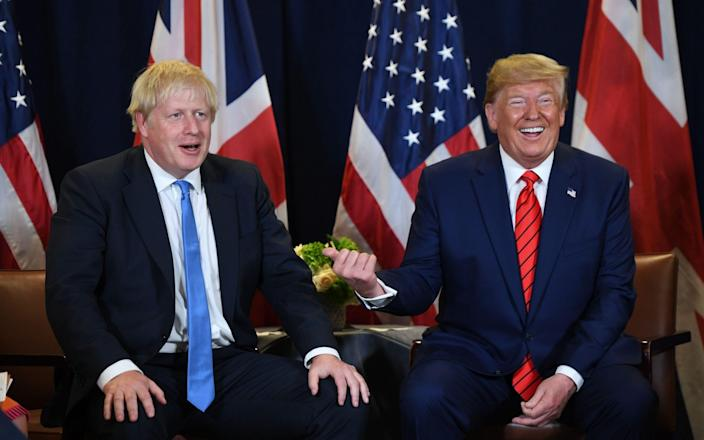 Mr Johnson and Mr Trump appeared to have developed quite a rapport