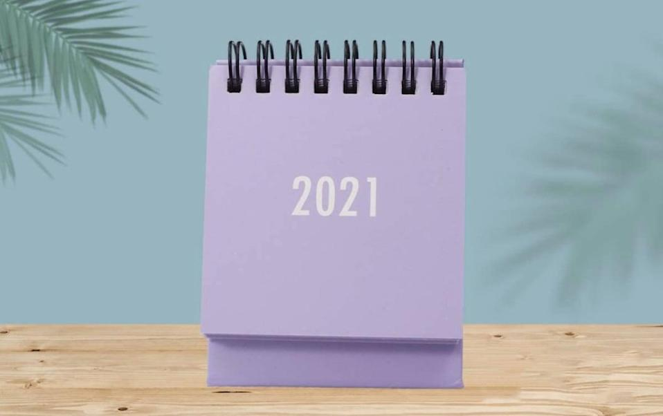 <p>This <span>TOYANDONA Desk Calendar</span> ($8) goes until December 2021, and it is a practical way to upgrade anyone's desk.</p>