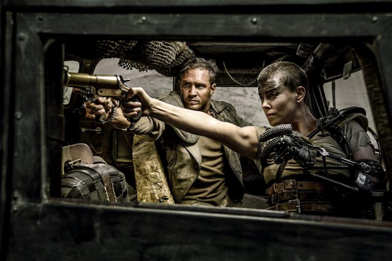Tom Hardy and Charlize Theron in 'Mad Max: Fury Road' (credit: Warner Bros)