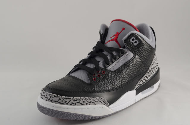 The iconic black and cement Nike Air Jordan III's were originally released in 1988. (Getty Images)