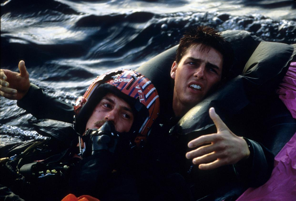 Anthony Edwards and Tom Cruise in the 1986 hit, 'Top Gun' (Photo: Paramount/Courtesy Everett Collection)