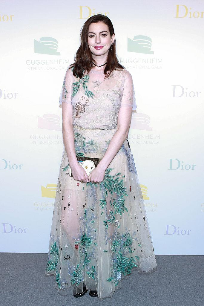 That\'s a First: Anne Hathaway Wore Combat Boots With a Gown to a Gala