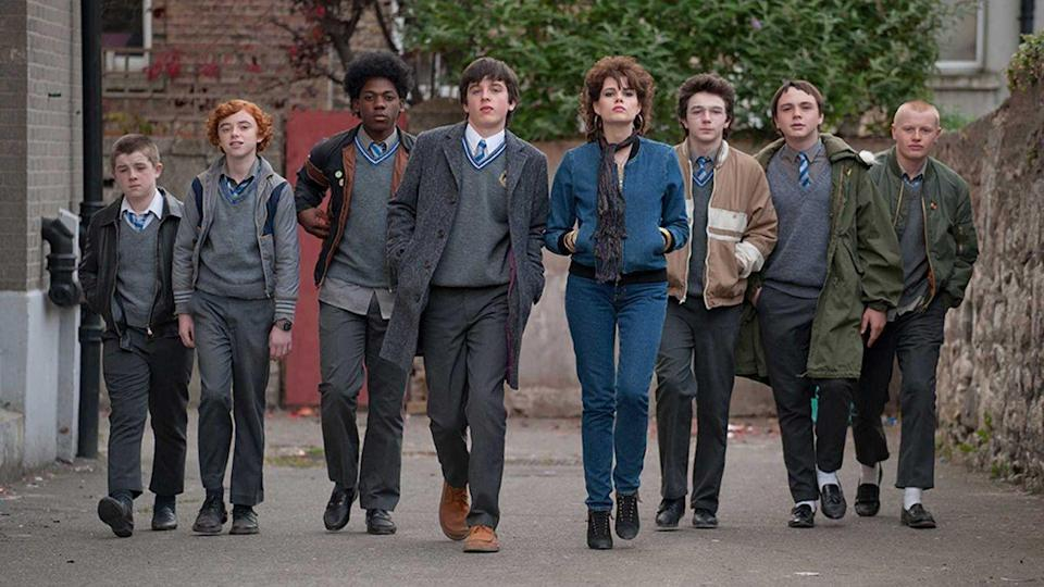 "<p>Directed by <em>Once</em>'s John Carney, <em>Sing Street </em>is also a musical extravaganza. Seeking an escape from his home life in 1980s Dublin, a teenage boy (Ferdia Walsh-Peelo) starts a band. <em>Sing Street</em> will have you humming along.</p><p><a class=""link rapid-noclick-resp"" href=""https://www.amazon.com/Sing-Street-Lucy-Boynton/dp/B01IJD71TC?tag=syn-yahoo-20&ascsubtag=%5Bartid%7C10072.g.35120185%5Bsrc%7Cyahoo-us"" rel=""nofollow noopener"" target=""_blank"" data-ylk=""slk:Watch Now"">Watch Now</a></p>"