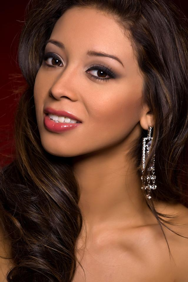 Sonia Cruz, Miss El Salvador 2010, competes for the title of Miss Universe 2010 during the 59th Annual Miss Universe competition from the Mandalay Bay Resort and Casino, in Las Vegas, Nevada.