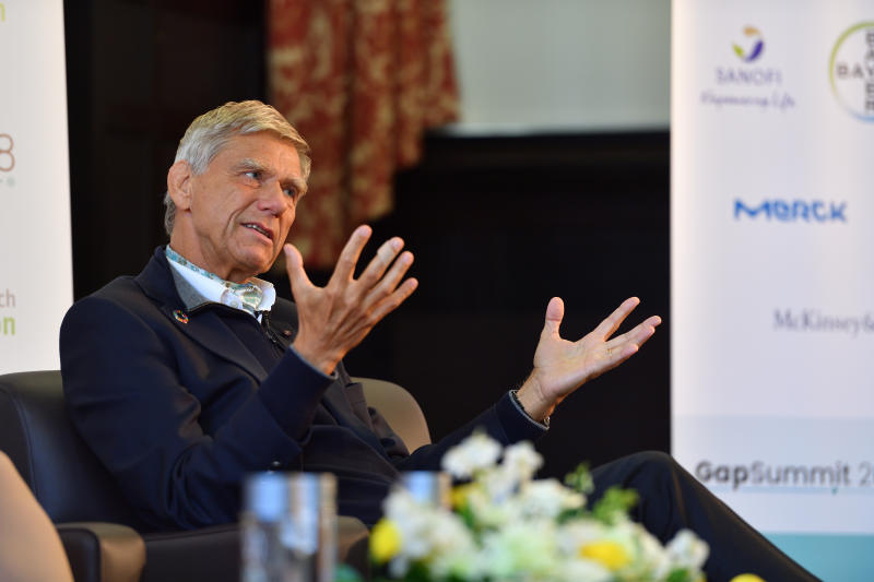 Hermann Hauser on April 18, 2018 in Cambridge, England. (Photo by Chris Williamson/Getty Images)