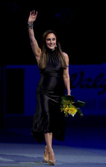 """After hanging up her skates, Fleming worked as a color analyst for ABC Sports for years, though she is now retired. The mother of two (and now grandmom) also had a high-profile battle with breast cancer, which was detected on the 30th anniversary of her gold metal win in France -- a challenge she told <a href=""""http://jacksonville.com/news/health-and-fitness/2012-10-06/story/peggy-fleming-talks-olympics-and-breast-cancer-pink-ribbon"""" rel=""""nofollow noopener"""" target=""""_blank"""" data-ylk=""""slk:Jacksonville.com"""" class=""""link rapid-noclick-resp"""">Jacksonville.com</a> she was prepared for, in part, because of her past. """"You don't win the Olympics by yourself and you don't survive cancer by yourself,"""" Fleming said."""