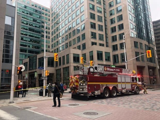 RCMP Sgt. Lucie Lapointe says some of the charges that Joseph Knipfel is facing are related to an incident that took place at 131 Queen Street in Ottawa on April 29, 2021. (Omar Dabaghi-Pacheco/CBC - image credit)