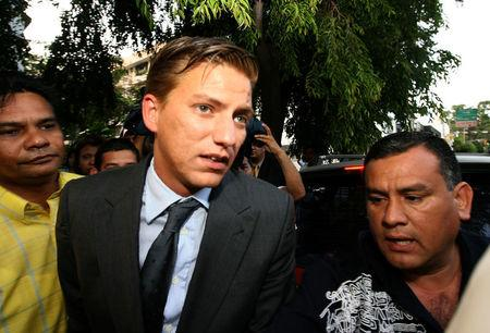 Alexandre Ventura Nogueira arrives at the Office of the Attorney General in Panama City