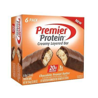 """<p><strong>Premier Protein</strong></p><p>target.com</p><p><a href=""""https://www.target.com/p/premier-protein-20g-protein-bars-chocolate-peanut-butter-6ct-12-48oz/-/A-78668363"""" rel=""""nofollow noopener"""" target=""""_blank"""" data-ylk=""""slk:BUY NOW"""" class=""""link rapid-noclick-resp"""">BUY NOW</a></p><p>While the primary protein used in these bars is soy, they do also contain weigh. The flavor is awesome—as is the hit of crunch.</p>"""