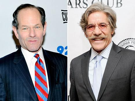 """Geraldo Rivera Gets Advice From Eliot Spitzer on Near-Naked """"Selfie"""": The Public Will Forgive You"""