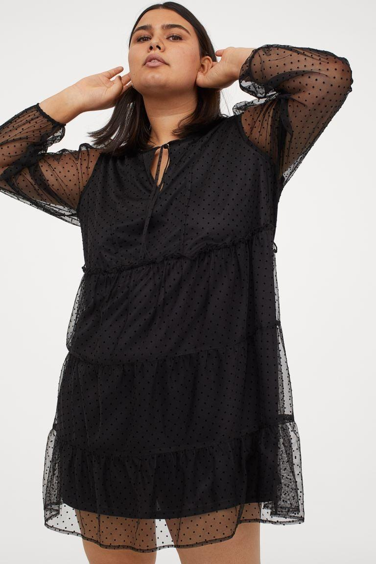 "<p>The sheer sleeves on this <a href=""https://www.popsugar.com/buy/HampM-Mesh-Dress-586416?p_name=H%26amp%3BM%2B%20Mesh%20Dress&retailer=www2.hm.com&pid=586416&price=35&evar1=fab%3Aus&evar9=47589535&evar98=https%3A%2F%2Fwww.popsugar.com%2Ffashion%2Fphoto-gallery%2F47589535%2Fimage%2F47590086%2FHM-Mesh-Dress&list1=shopping%2Cdresses%2Csummer%2Csummer%20fashion%2Cfashion%20shopping&prop13=mobile&pdata=1"" class=""link rapid-noclick-resp"" rel=""nofollow noopener"" target=""_blank"" data-ylk=""slk:H&amp;M+ Mesh Dress"">H&amp;M+ Mesh Dress</a> ($35) are so sexy.</p>"