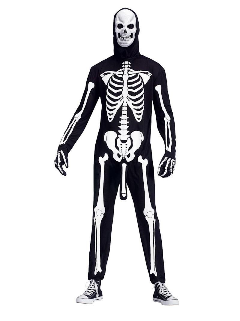 """Previously when I looked at skeleton costumes, I always felt like they were missing something, but I couldn't quite put my finger on it. Now, thanks to <a href=""""https://www.costumesupercenter.com/products/mens-skele-boner-costume"""" target=""""_blank"""">Skeleboner,</a> I can (but I'm not sure I want to)."""