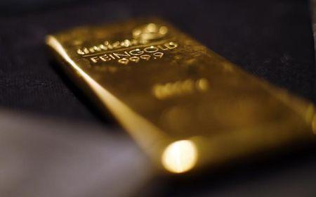 Gold bars are stacked at a safe deposit room of the ProAurum gold house in Munich