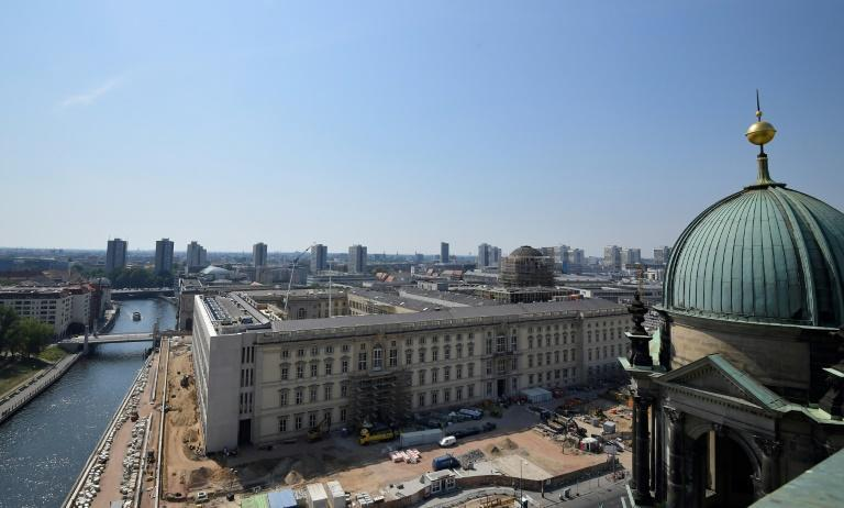 The Humboldt Forum building dominates the 'Museum Island' in central Berlin