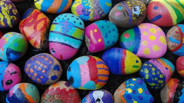 PHOTO: Art teacher Jessica Moyes tasked 740 students to paint a rock any way they wanted. What resulted was a project going viral online. (Jessica Moyes/Sharon Elementary School)