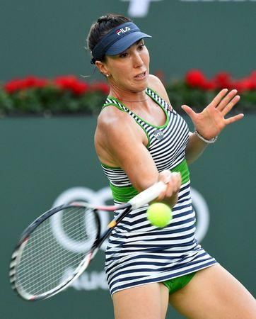 Jelena Jankovic (SRB) during her 2nd round match against Venus Williams (not pictured) in the BNP Paribas Open at the Indian Wells Tennis Garden. Williams won 1-6, 7-6, 6-1. Mandatory Credit: Jayne Kamin-Oncea-USA TODAY Sports