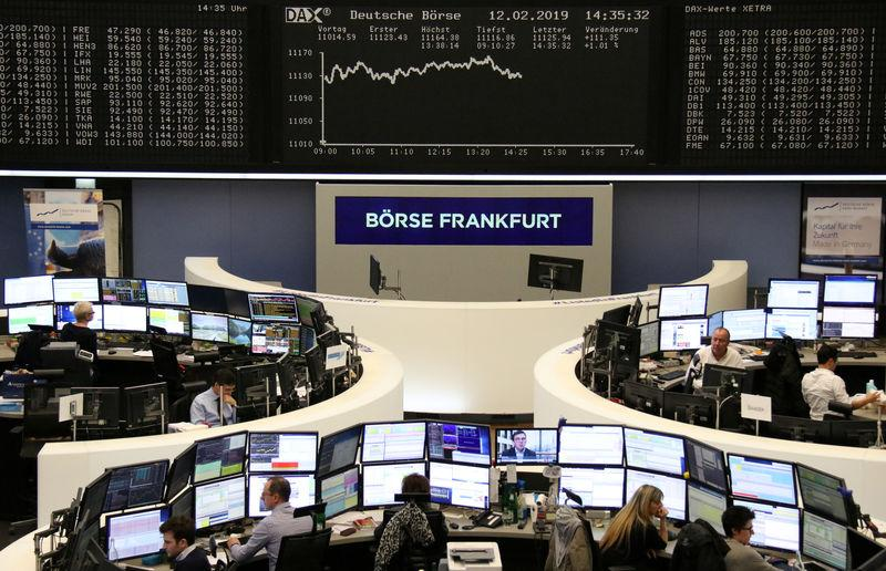 The German share price index DAX graph is pictured at the stock exchange in Frankfurt, Germany, February 12, 2019. REUTERS/Staff