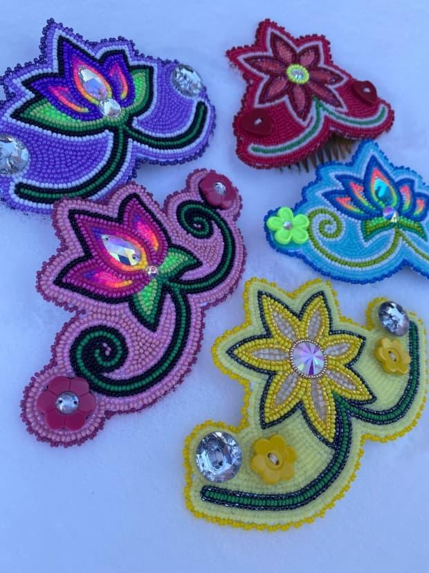 Tara Kiwenzie created beaded ear savers after hearing people complain of ear pain from mask wearing.