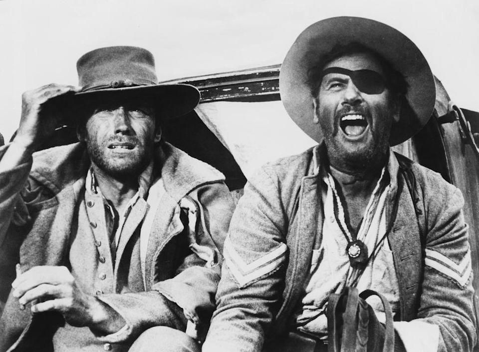 <p>In 1967, Eastwood had three Italian Westerns debut in the U.S.—<em>A Fistful of Dollars</em>, <em>For a Few Dollars More,</em> and <em>The Good, the Bad, </em><em>and</em><em> the Ugly</em>). All were a huge success at the box office.</p>