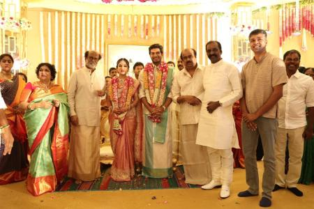 vairamuthu at soundarya rajinikanth Vishagan Vanangamudi's wedding
