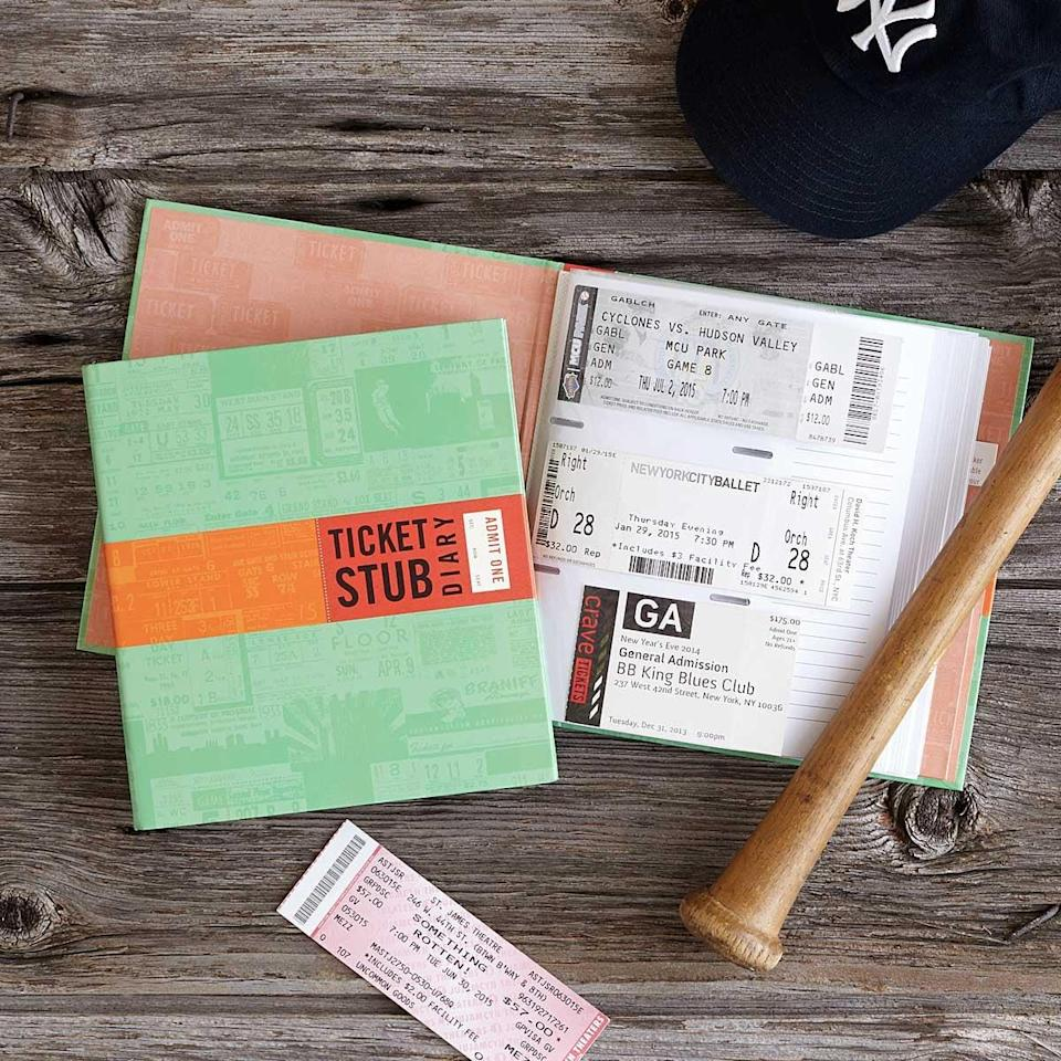 <p>It will be so touching to look back on great memories when this <span>ticket stub diary</span> ($14) is filled up.</p>