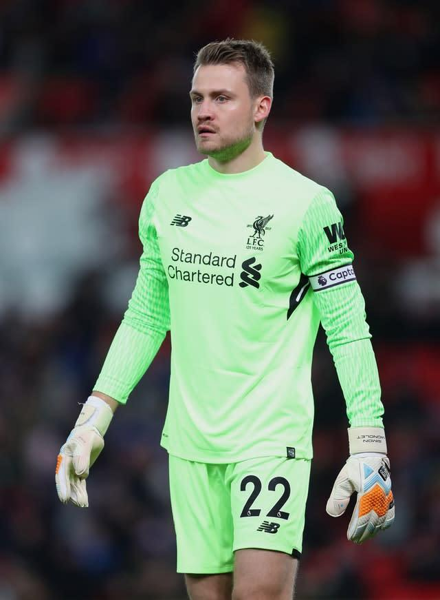 Crystal Palace are said to be interested in Liverpool goalkeeper Simon Mignolet (David Davies/PA)
