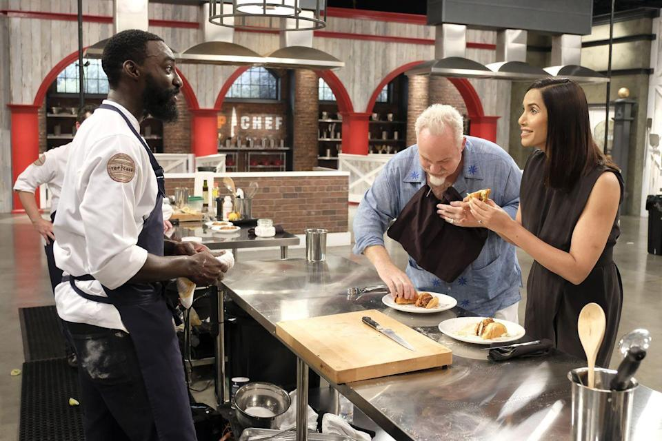 """<p>The real reason <em>Top Chef </em>is the ultimate test of culinary skills? Contestants have to rely on their previous knowledge and are <a href=""""https://www.delish.com/food-news/a51804/top-chef-finale/"""" rel=""""nofollow noopener"""" target=""""_blank"""" data-ylk=""""slk:restricted from researching"""" class=""""link rapid-noclick-resp"""">restricted from researching</a> or using any recipes. </p>"""