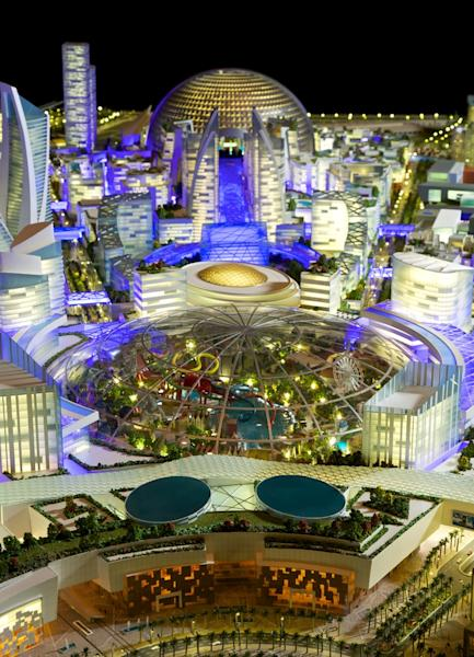 "An artist's impression of the ""Mall of the World"" to be built in Dubai (AFP Photo/)"