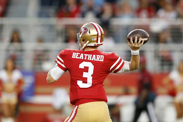 """The brother of <a class=""""link rapid-noclick-resp"""" href=""""/nfl/teams/san-francisco/"""" data-ylk=""""slk:San Francisco 49ers"""">San Francisco 49ers</a> quarterback C.J. Beathard was killed in Nashville Saturday morning. (Lachlan Cunningham/Getty Images)"""