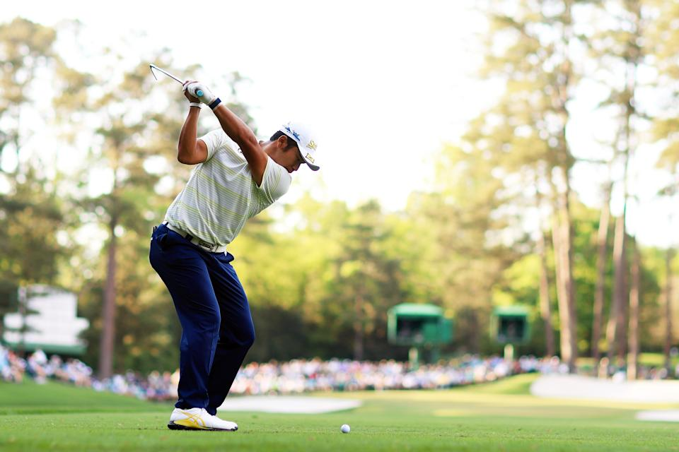 This was the most important shot of Hideki Matsuyama's life, and it won him a green jacket. (Photo by Mike Ehrmann/Getty Images)