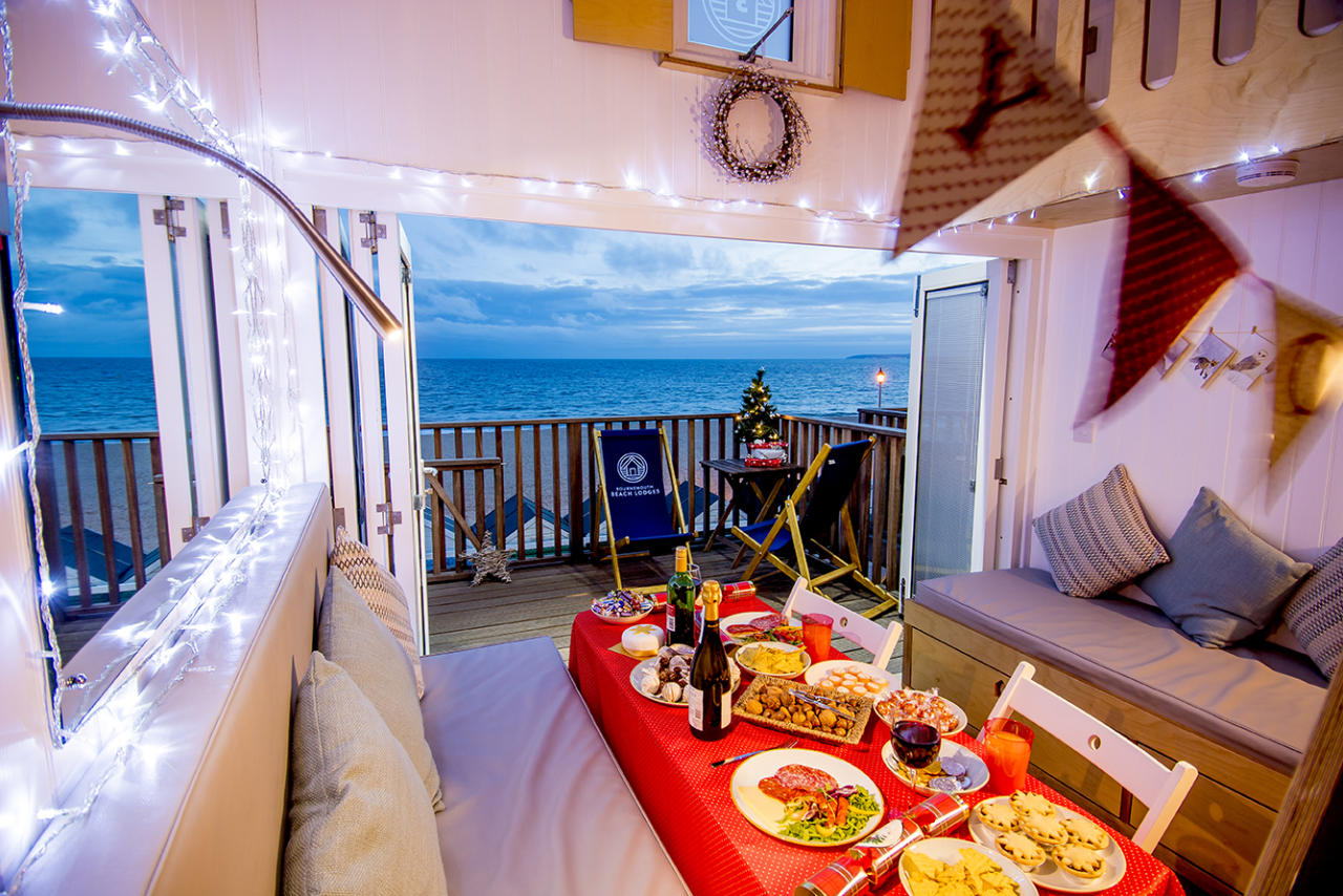 <p>Fancy an alternative place to stay this Christmas? Overlooking Bournemouth beach, the 15 Bournemouth Beach Lodges are heated, with south-facing decks, kitchens, bathrooms, WiFi and accommodation for up to four people. You can have your Festive Lodge decorated pre-arrival, and there are plenty of great bars and restaurants nearby if you don't fancy cooking. Seven nights' self-catering from £475 (arriving on December 22). <em>[Photo: Bournemouth Beach Lodges]</em> </p>
