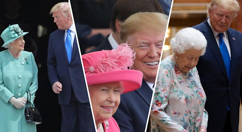 The Queen hosted a private lunch and state banquet with US President Donald Trump during his three-day state visit [Photos: PA]