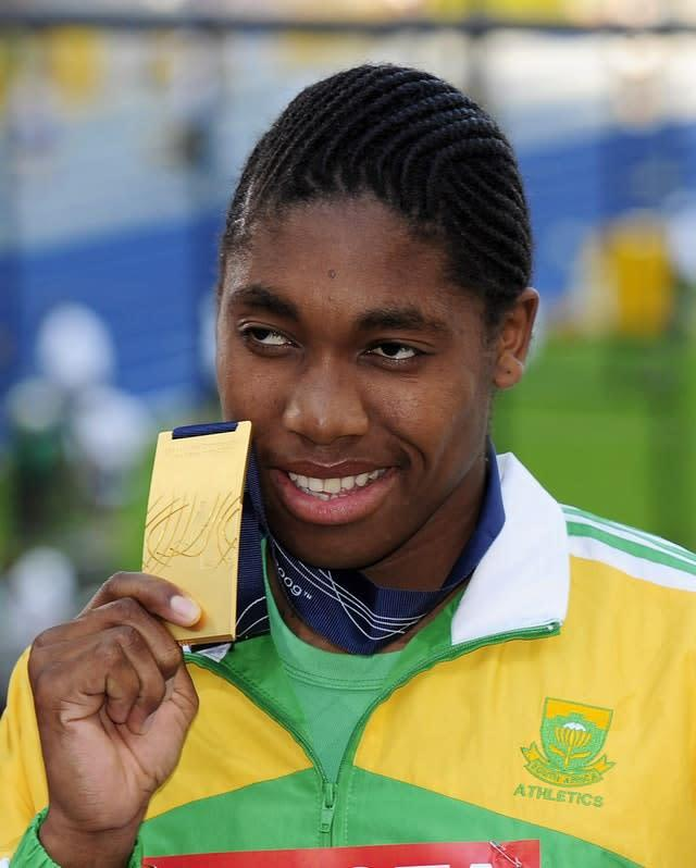 Caster Semenya burst on to the global stage by winning gold at the 2009 World Champioships in Berlin (John Giles/PA).