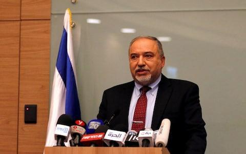 <span>The resignation of Avigdor Lieberman, one of Mr Netanyahu's coalition partners, has rocked the Israeli government and could trigger fresh elections in the Jewish state</span> <span>Credit: REUTERS/Ammar Awad </span>