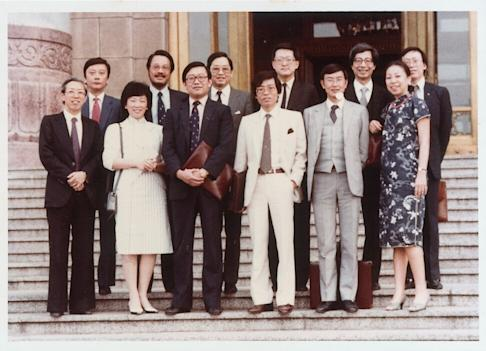 Allen Lee (front row, third from left) led a delegation to Beijing in 1983 that sought an extension of British rule in Hong Kong. Photo: SCMP
